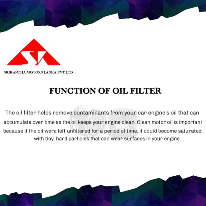FUNCTION OF OIL FILTER