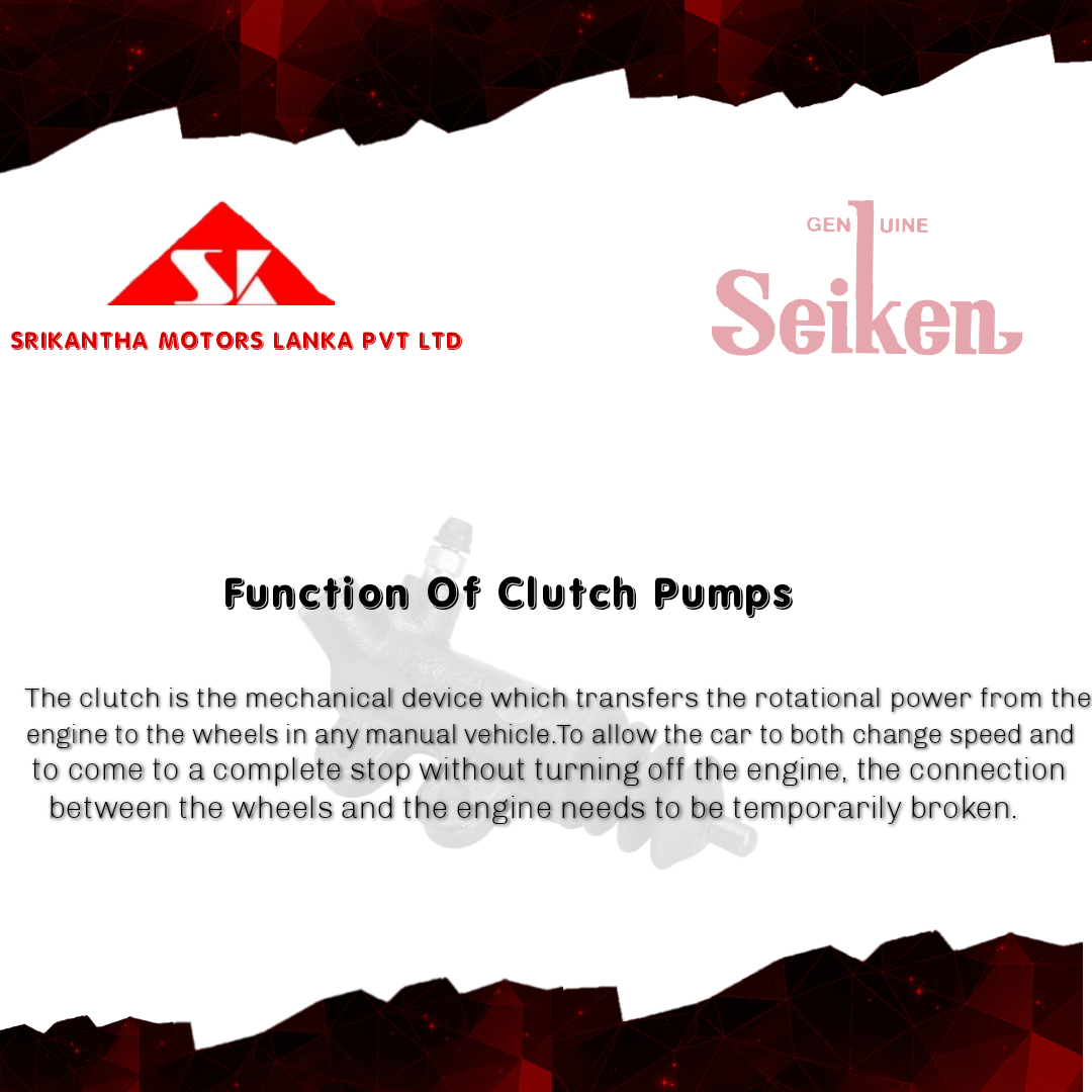 Function Of Clutch Pumps
